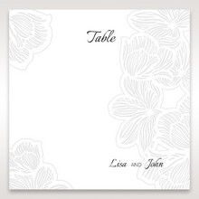 White Laser Cut Floral Lace - Table Number Cards - Wedding Stationery - 56