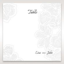 White Laser Cut Floral Lace - Table Number Cards - Wedding Stationery - 84