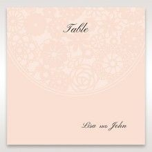 Orange Pink Light Romance - Table Number Cards - Wedding Stationery - 48