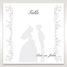 White Promise - Table Number Cards - Wedding Stationery - 49