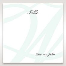 White Modern Marvel - Table Number Cards - Wedding Stationery - 96