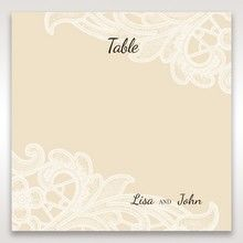 Yellow/Gold Laser Cut Floral Pocket - Table Number Cards - Wedding Stationery - 88