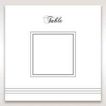 White Modern Pocket-Grey - Table Number Cards - Wedding Stationery - 6