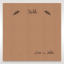 Brown Rustic - Table Number Cards - Wedding Stationery - 98
