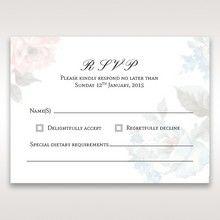 Blue Magical Flower Garden - RSVP Cards - Wedding Stationery - 66