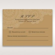 Yellow/Gold Tri-Fold Laser Cut Gold - RSVP Cards - Wedding Stationery - 67