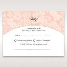 Pink Rustic Garden Laser Cut Pocket - RSVP Cards - Wedding Stationery - 37