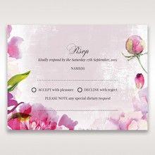 Purple Laser Cut Forest 3D Pocket - RSVP Cards - Wedding Stationery - 74