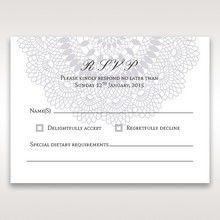 Blue Blue Elegance, Floral Couture - RSVP Cards - Wedding Stationery - 0