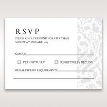 White Elegant Laser Cut - RSVP Cards - Wedding Stationery - 65