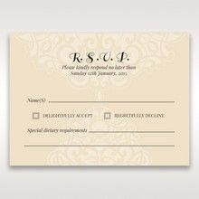 Yellow/Gold Jeweled Laser Cut - RSVP Cards - Wedding Stationery - 49