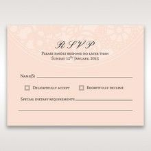 Orange Pink Light Romance - RSVP Cards - Wedding Stationery - 71