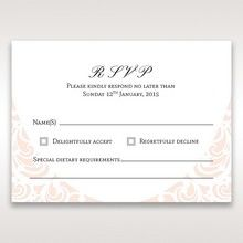 White Edge of Heaven - RSVP Cards - Wedding Stationery - 75