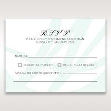 White Modern Marvel - RSVP Cards - Wedding Stationery - 76