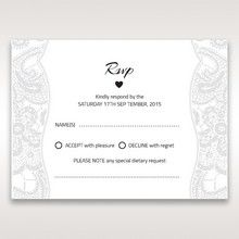 White White Dress - RSVP Cards - Wedding Stationery - 80