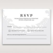 White Enchanted Forest I Laser Cut P - RSVP Cards - Wedding Stationery - 47