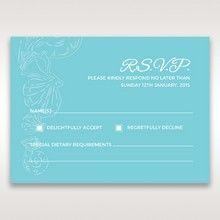 Green Ocean Frame I Laser Cut - RSVP Cards - Wedding Stationery - 81