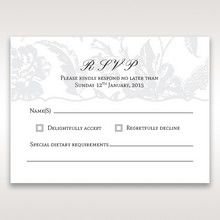 Silver/Gray Enchanted Floral Pocket III - RSVP Cards - Wedding Stationery - 78