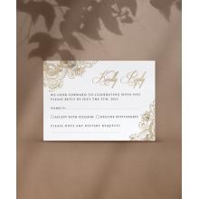 Glamorous RSVP in Gold - RSVP Cards - VD-KI300-PFL-GG-11 - 184687