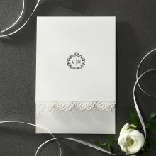 Vintage Doiley Lace wedding invitations HB14116