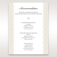 Vintage Lace Frame accommodation card DA15040
