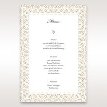 Vintage Lace Frame menu card DM15040