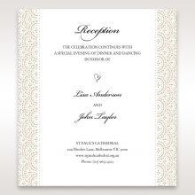 Vintage Lace Frame reception card DC15040