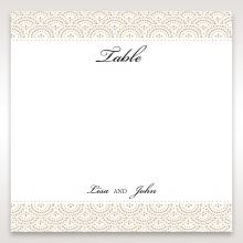 Vintage Lace Frame table number card DT15040