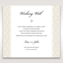 Vintage Lace Frame wishing well card DW15040