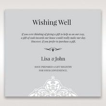Silver/Gray Jeweled White Lasercut Pocket - Wishing Well / Gift Registry - Wedding Stationery - 4