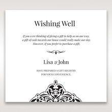 White Jeweled Romance Black Lasercut Pocket - Wishing Well / Gift Registry - Wedding Stationery - 9