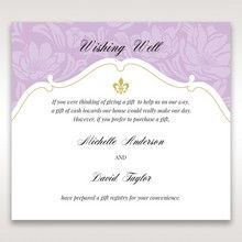 Purple Gold Foiled Floral Laser Cut - Wishing Well / Gift Registry - Wedding Stationery - 12