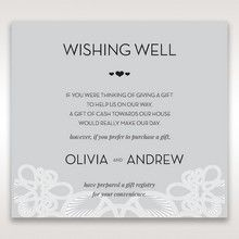 Silver/Gray Elagant Laser Cut Wrap - Wishing Well / Gift Registry - Wedding Stationery - 28