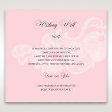 Pink Laser Cut Floral Half Pocket - Wishing Well / Gift Registry - Wedding Stationery - 41