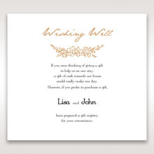 ... Foil-Stamped - Wishing Well / Gift Registry - Wedding Stationery - 12