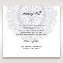 Blue Blue Elegance, Floral Couture - Wishing Well / Gift Registry - Wedding Stationery - 52