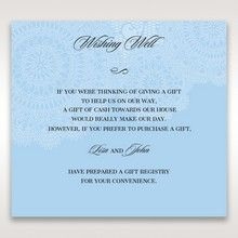 Blue Handmade Vintage Lace Floral - Wishing Well / Gift Registry - Wedding Stationery - 7