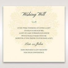 Brown Embossed Swirls Hard Layer - Wishing Well / Gift Registry - Wedding Stationery - 51