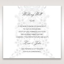 White Laser Cut Floral Wrap - Wishing Well / Gift Registry - Wedding Stationery - 91