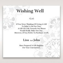 White Laser Cut Floral Frame - Wishing Well / Gift Registry - Wedding Stationery - 49