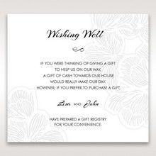 Orange Laser Cut Flower Frame - Wishing Well / Gift Registry - Wedding Stationery - 67