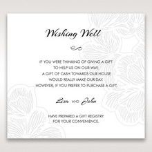 White Laser Cut Flower Frame - Wishing Well / Gift Registry - Wedding Stationery - 71