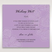 Purple Laser Cut Flower Frame III - Wishing Well / Gift Registry - Wedding Stationery - 50