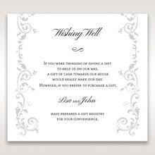 White Modern Times Vintage Pocket - Wishing Well / Gift Registry - Wedding Stationery - 90