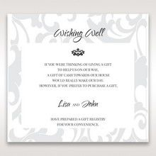 Blue Laser Scrolling Grandeur Layered Laser Cut - Wishing Well / Gift Registry - Wedding Stationery - 66