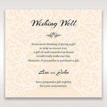 Yellow/Gold Laser Victorian Lace Laser Cut Wrap - Wishing Well / Gift Registry - Wedding Stationery - 17