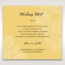 Yellow/Gold Laser Cut Flower Frame III - Wishing Well / Gift Registry - Wedding Stationery - 95