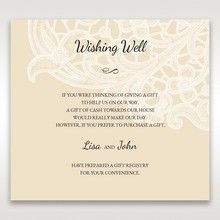 Yellow/Gold Laser Cut Floral Pocket - Wishing Well / Gift Registry - Wedding Stationery - 91