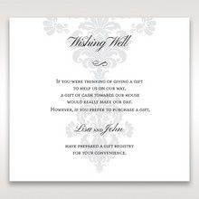 White Letter-fold Damask Pocket - Wishing Well / Gift Registry - Wedding Stationery - 91