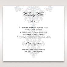 White Letter-fold Damask Pocket - Wishing Well / Gift Registry - Wedding Stationery - 91